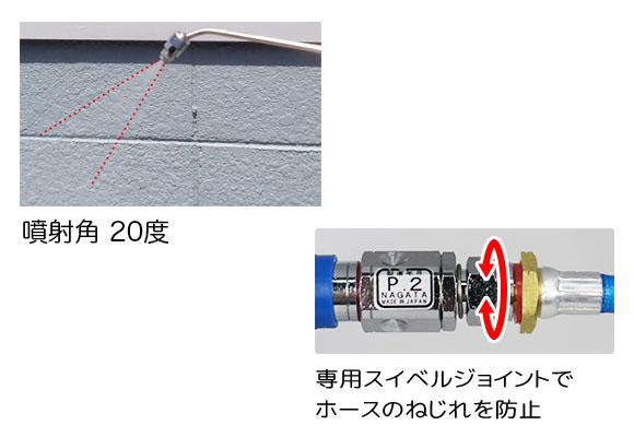 ■セッティング簡単!■エクサパワーMOVE(ムーヴ) - 特殊屈曲洗浄ガン付属コードレスエアコン洗浄機04
