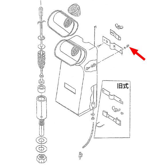 musashi製シャンピングタンク用パーツNo.6袋ナットD(4個入) 01