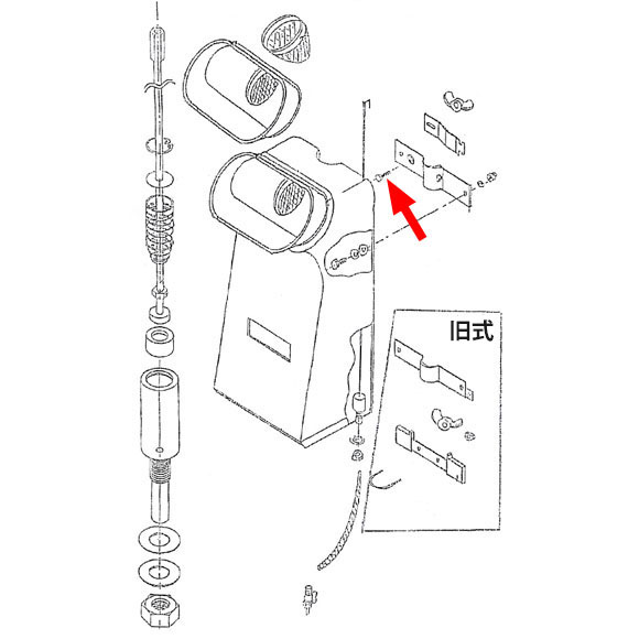 musashi製シャンピングタンク用パーツNo.7角根ボルト(2個入) 01