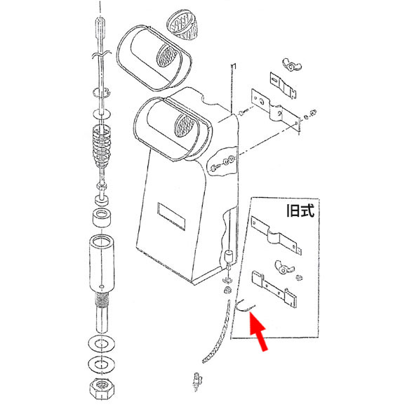 musashi製シャンピングタンク用パーツNo.12Uボルト(旧式用) 01