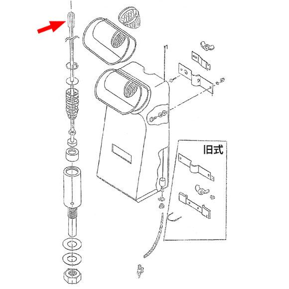 musashi製シャンピングタンク用パーツNo.17連結ナット 01