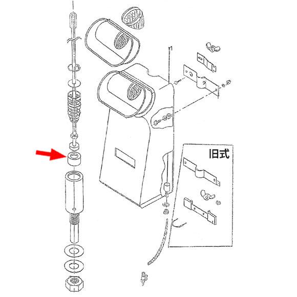 musashi製シャンピングタンク用パーツNo.22バルブ弁用ゴム 01