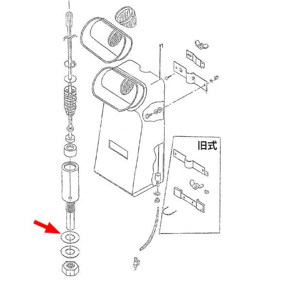 musashi製シャンピングタンク用パーツNo.24バルブゴムパッキング 01