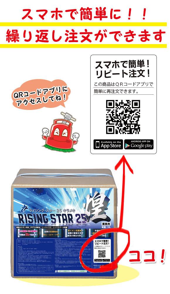 不揮発分25%高光沢・高耐久・速乾性樹脂ワックス■RISING STAR 25 煌(ライジング・スター25 キラメキ) 01