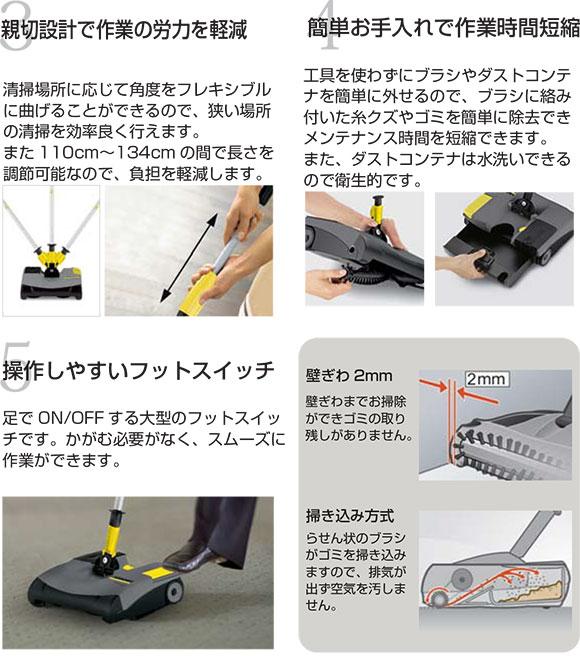 ケルヒャー EB30/1Pro(充電器・バッテリー2個付) - 業務用スティッククリーナー 03