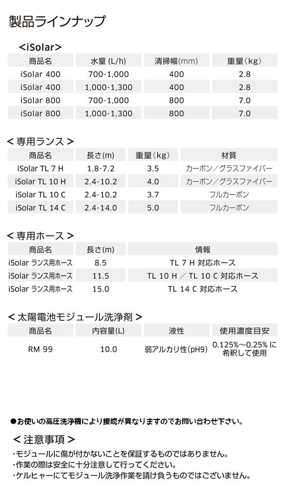 ケルヒャー iSolar 400 -  太陽光発電パネル 洗浄用アクセサリー【代引不可】 商品詳細02
