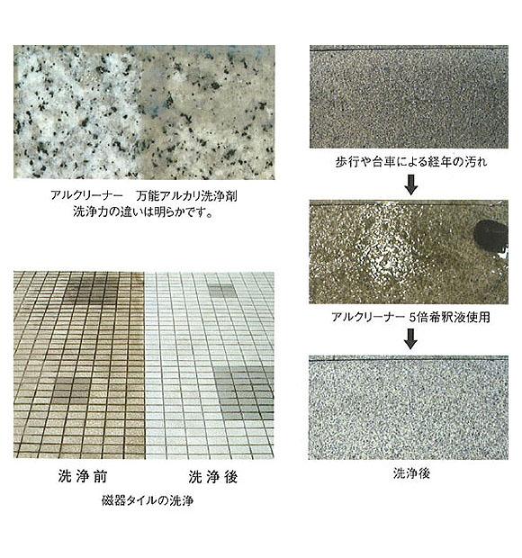 紺商 アルクリーナー [10L] - 石材・タイル・コンクリート専用重汚染用アルカリ洗浄剤 01
