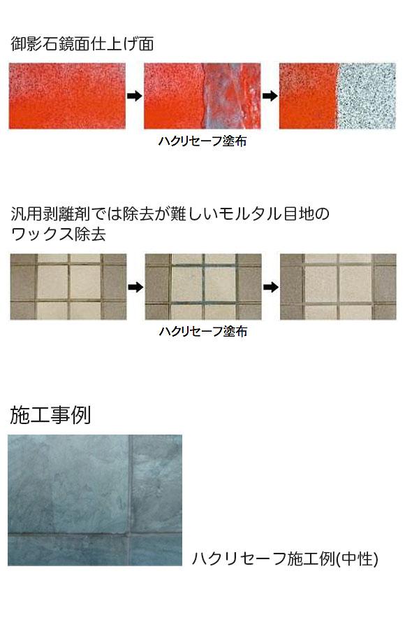 紺商 ハクリセーフ [4kg] - 樹脂ワックス・塗料膜の剥離剤 01