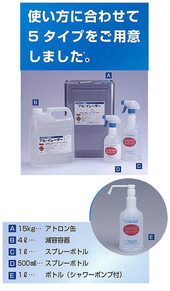 横浜油脂工業(リンダ) アル・イレーザー - 除菌用アルコール製剤 02