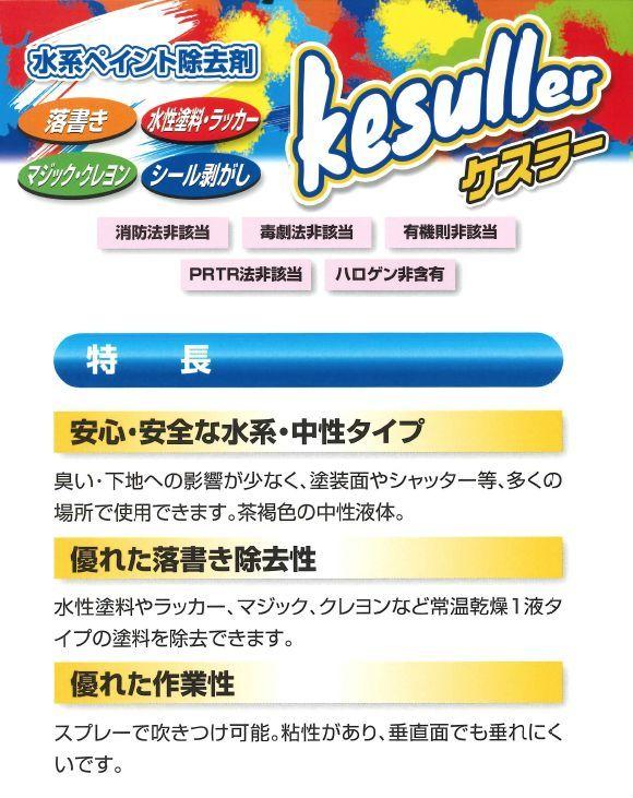 横浜油脂工業(リンダ) 水系ペイント除去剤 kesuiier(ケスラー) 01