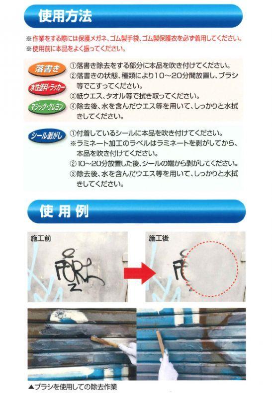 横浜油脂工業(リンダ) 水系ペイント除去剤 kesuiier(ケスラー) 02
