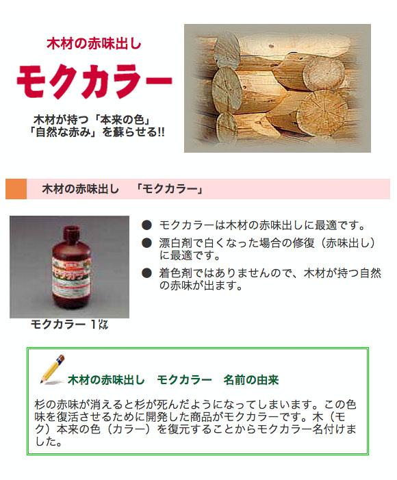 ミヤキ モクカラー - 木材の赤味出し 01