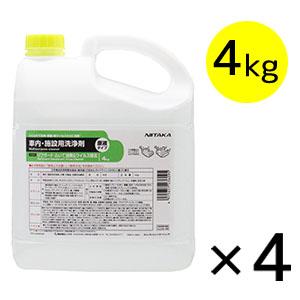 ニイタカ リフガード ふいて消臭&ウィルス除去 4kg×4 - 店舗用消臭・ウイルス除去剤