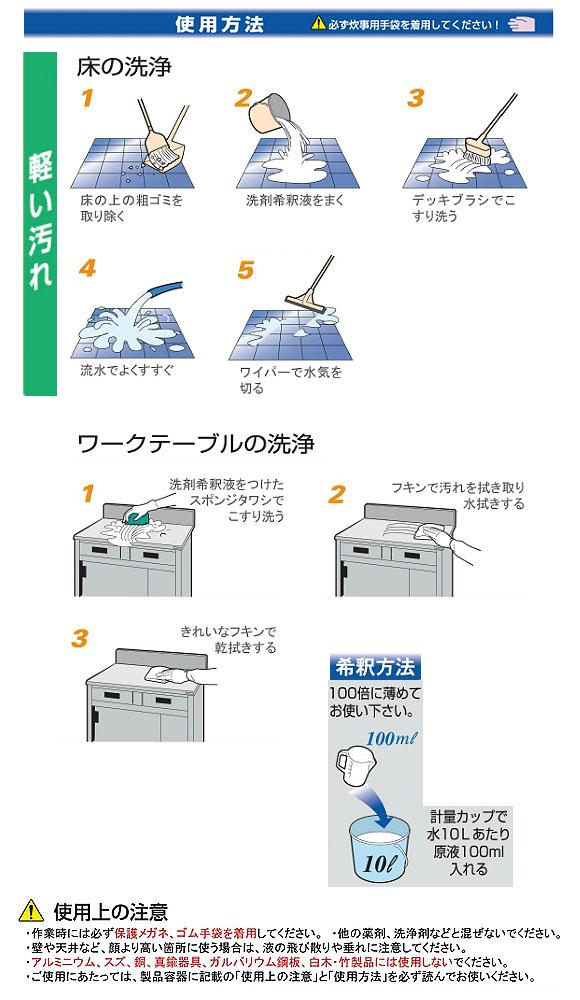 ニイタカ ニューケミクール[20kg] - 業務用・油汚れ用洗浄剤 04