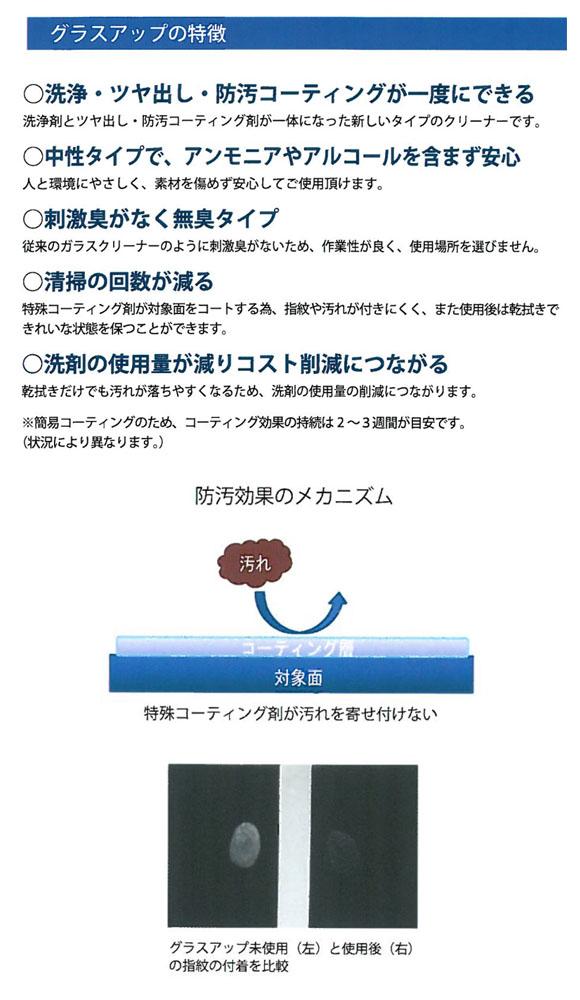 エムアイオージャパン グラスアップ - コーティング剤入クリーナー03