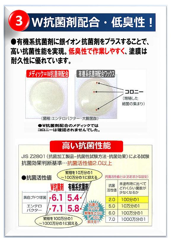 ペンギン メディック エージー 速乾プラス - 有機&銀イオンW抗菌剤配合・耐アルコール性樹脂ワックス MEDIC Ag 速乾プラス 05