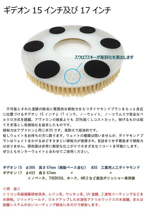クオリティ ギデオン - ガラス系硬膜研削用ダイヤモンドブラシ【代引不可】 01