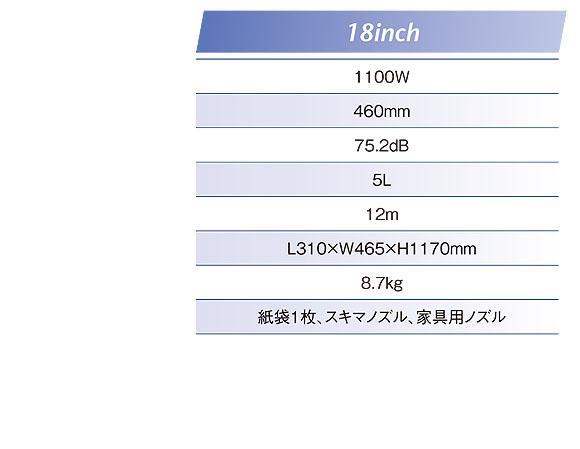 リンレイ スイングバックライト12/14/18 - 業務用アップライトバキューム 07