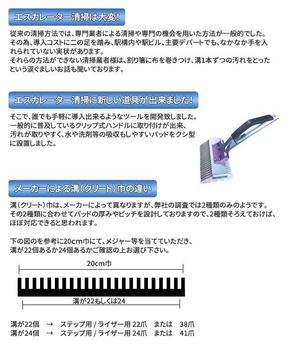 早乙女 エスカレーター清掃具 コーナー段差用スペアセット(20個入)02