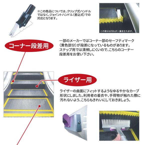 早乙女 エスカレーター清掃具 コーナー段差用03