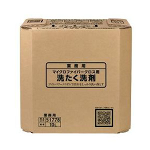 サラヤ マイクロファイバークロス用洗たく洗剤 10L 八角B.I.B.