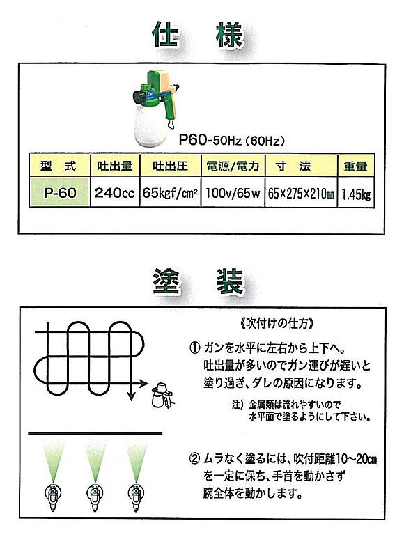 精和産業 パワースプレー P-60 - コンプレッサー不要の家庭用電動塗装機 02