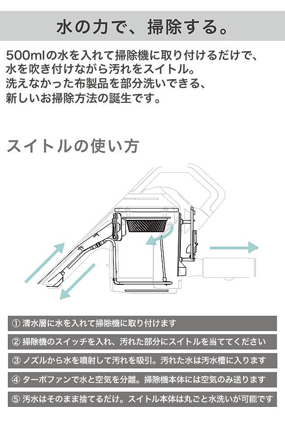 シリウス switle(スイトル) - 掃除機に取り付ける水洗いクリーナーヘッド 02