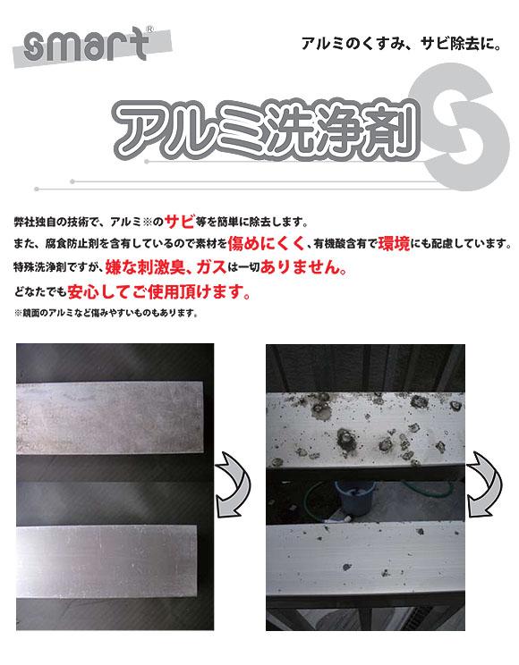 スマート アルミ洗浄剤 - 有機酸配合で自然環境にも優しいアルミ専用洗浄剤 01
