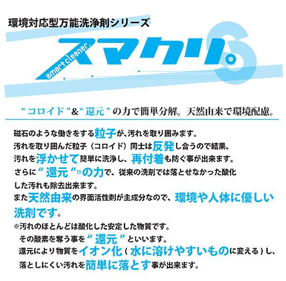 スマート スマクリ アルカリ性タイプ - 環境対応型万能洗浄剤 01