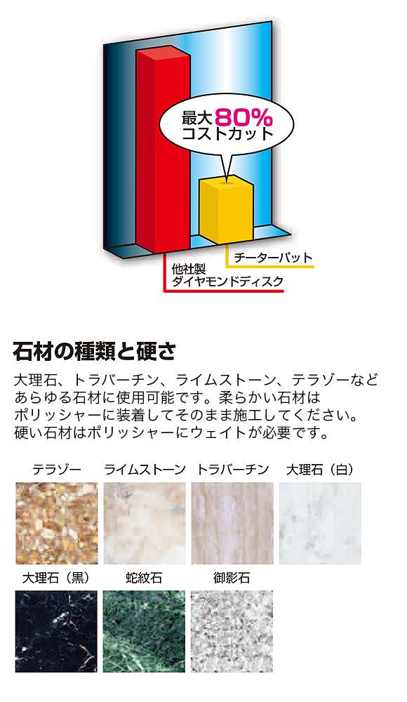 S.M.S.Japan チーターパット【ステップ4】 - 石材研磨パット 07