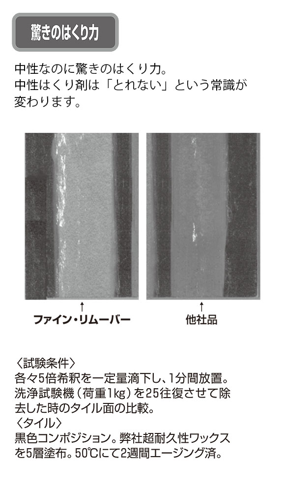スイショウ ファインリムーバー[18L] - 中性剥離剤 04