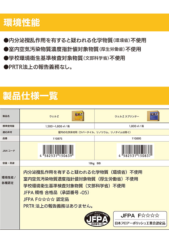 スイショウ&ユーホー ウェルZ スプリンター 18L  - オールラウンド樹脂ワックス 01