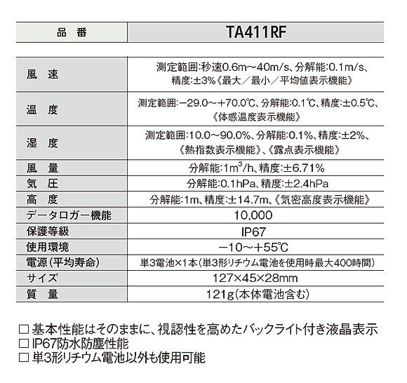 TASCO 空調用 温・湿・風速計(ポケットサイズ風速計シリーズ) - 空調業界サービスマンのためのスペシャルモデル【代引不可】 02