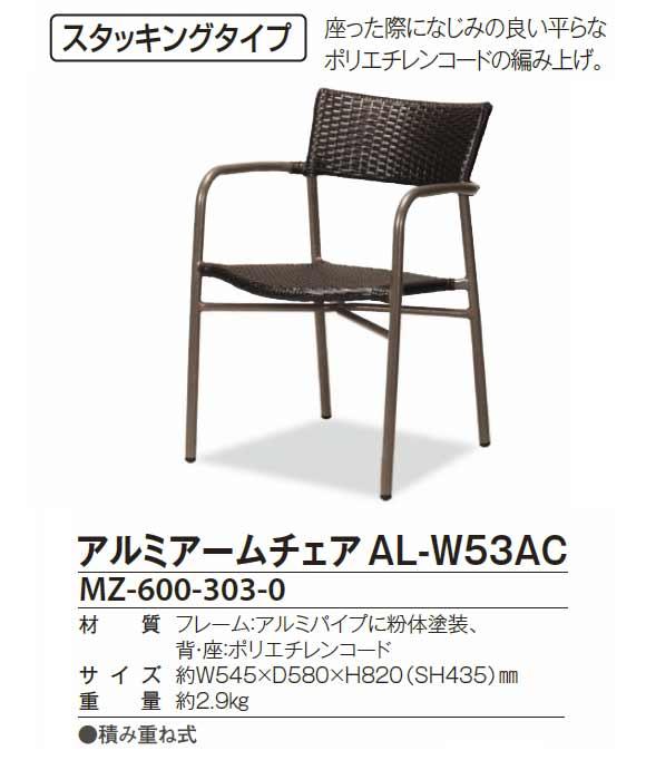 テラモト アルミアームチェア AL-W53AC 【代引不可】商品詳細01