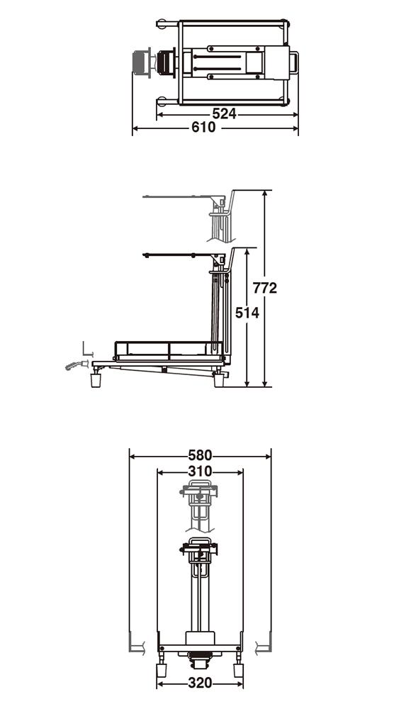 テラモト 医廃物容器フレーム 可変式 本体05