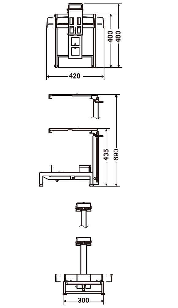 テラモト 医廃物容器フレームII (樹脂ペール専用)05