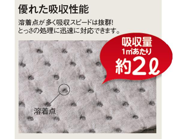 テラモト 吸油シート オイル・水両用 (110枚入) 02