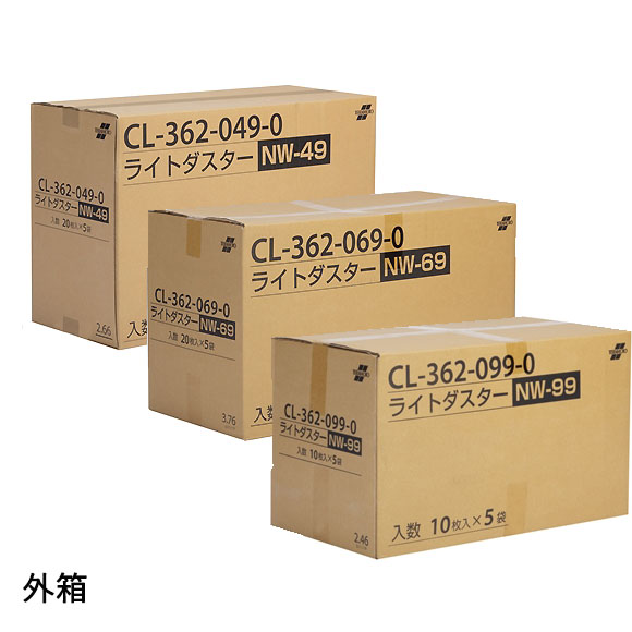 テラモト ライトダスターNW(ケース販売) - から拭き・吸水用、洗って繰り返し使えるダスターシート