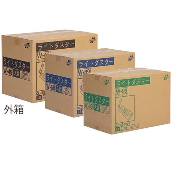 テラモト ライトダスターW(ケース販売) - から拭き・吸水用、通常はから拭き・ホコリ吸着用、雨天時は吸水ダスターとして1枚2役
