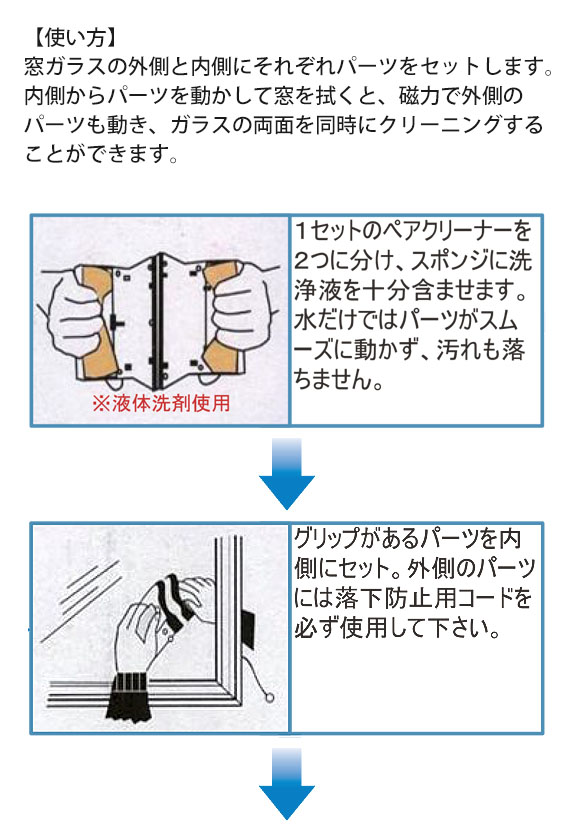 TOWA ペアクリーナー 強力アップグレード(10〜28mm厚ガラス対応・ペアガラス用) 03