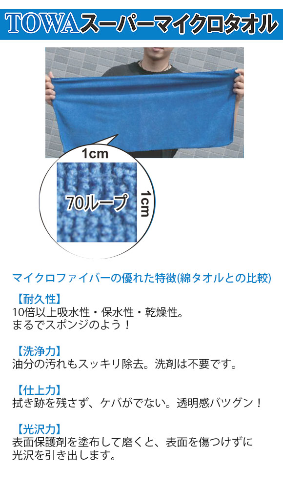 TOWA スーパーマイクロタオル(10枚入) 01