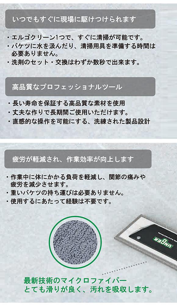 ウンガー(UNGER/アンガー) エルゴクリーン フロアクリーニングキット - ボトル付き洗剤噴霧伸縮ハンドルキット 04