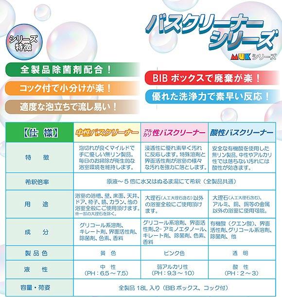 つやげん 【MUK】アルカリ性バスクリーナー [18L] - アルカリ性バスクリーナー  01