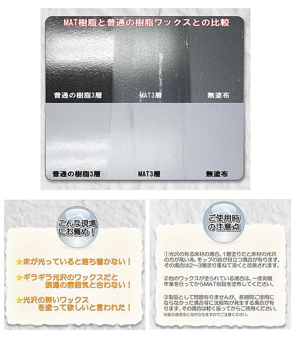 つやげん MAT樹脂[10L] - つや消しワックス 木床用製品 06