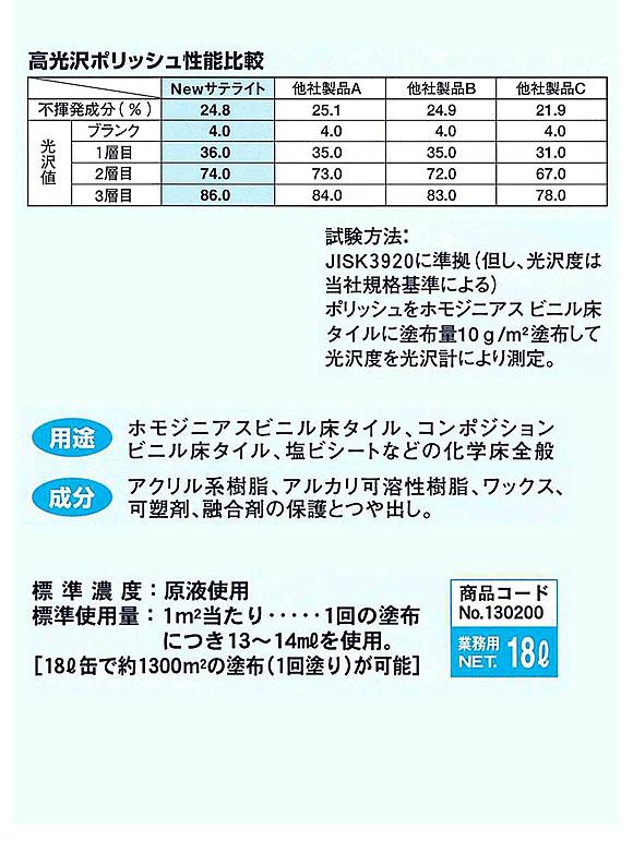 つやげん [MUK]ニューサテライト [18L] - 化学床材用 光沢重視製品 02