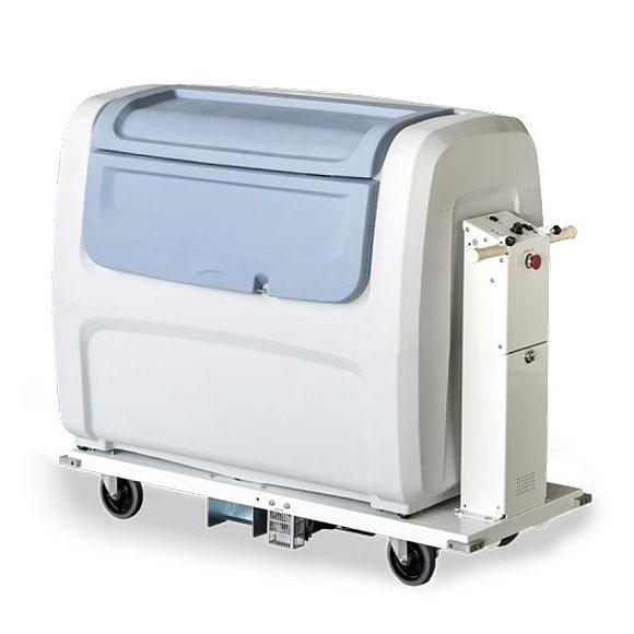 山崎産業 コンドル エレクトリックカート CEC-101 - 大量の荷物を楽に運搬できるダストボックス付き電動カート