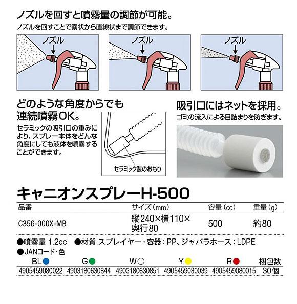 キャニオンスプレー H-500 01