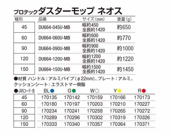 山崎産業 プロテック ダスターモップ ネオス04