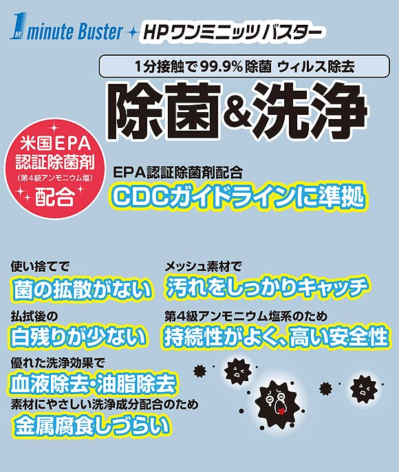 山崎産業  床用ウェットシート [5枚入×20] - HP ワンミニッツ バスターシリーズ 01