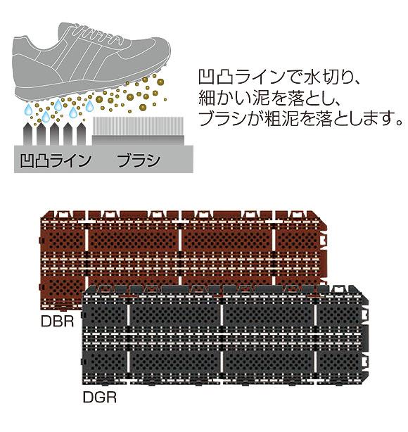 山崎産業 樹脂システムマット ブラシライン - ジョイントタイプの風除室マット 03